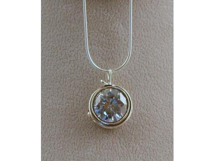 Stříbrný náhrdelník Cyntie