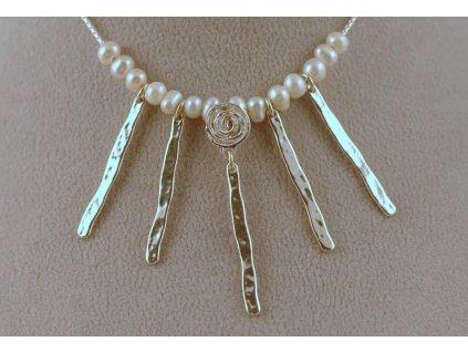 Stříbrný náhrdelník Glorie