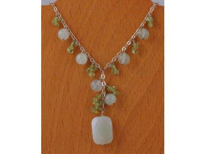 Stříbrný náhrdelník Jade