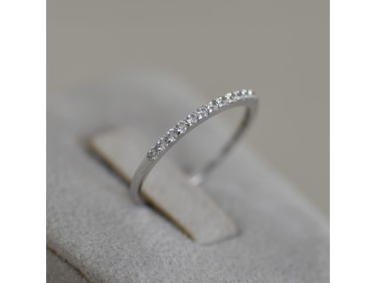 Prsten z bílého zlata Lucie