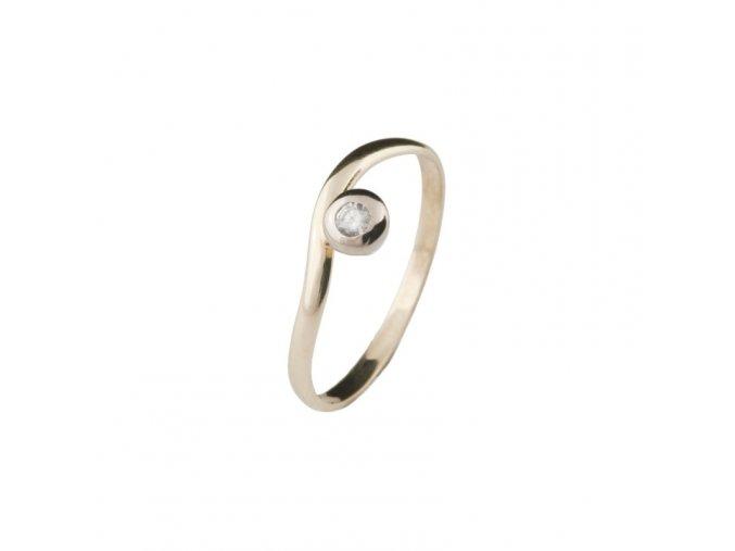 Prsten zlato se zirkonem 1,40 g