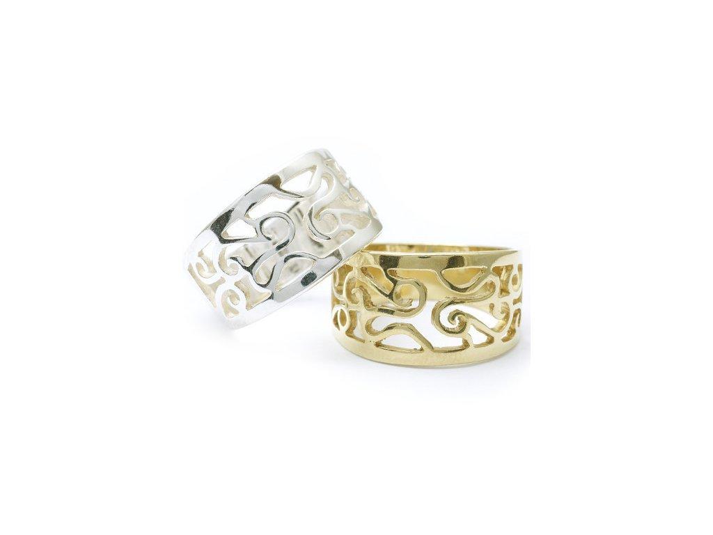 56c37862815 Fantasy - prsten stříbro 925 1000 (Materiál Pozlacené Stříbro 925 (14K)