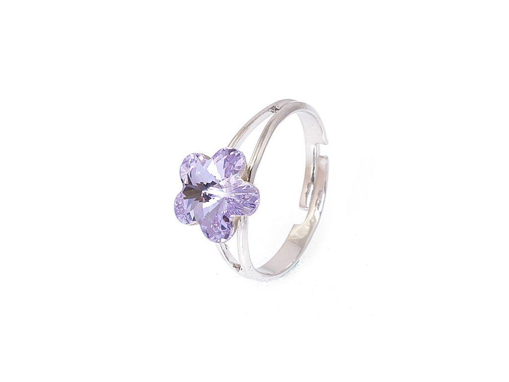 c6066169380 Flora - Violet - prsten «F» - SPERKY GURU