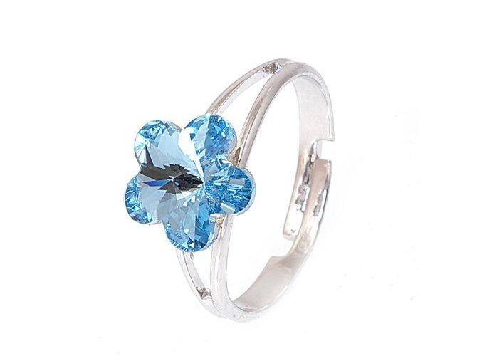 Flora - Aqua - prsten  «F»