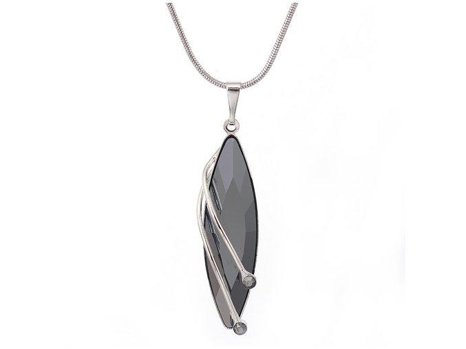 Fillyra - Hematit - náhrdelník s přívěskem  «F»