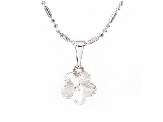 Flora - Crystal - náhrdelník s přívěskem  «F»