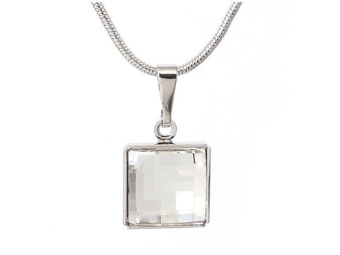 Fobos - náhrdelník s Crystalem Swarovski  «F»