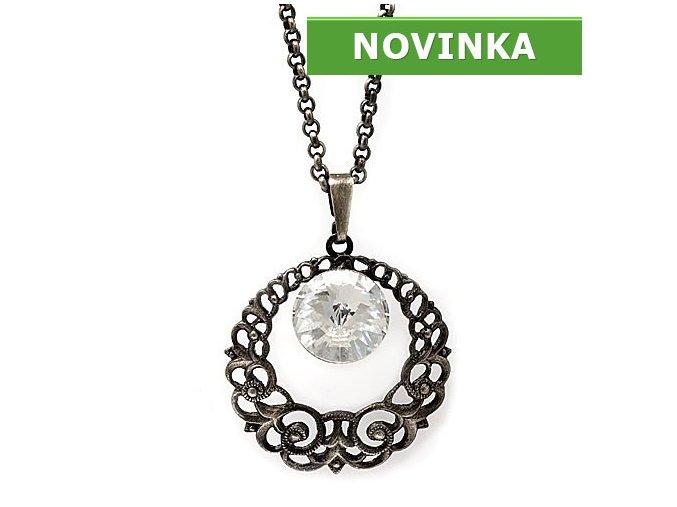 Girolde - náhrdelník s crystalem Swarovski  «F»