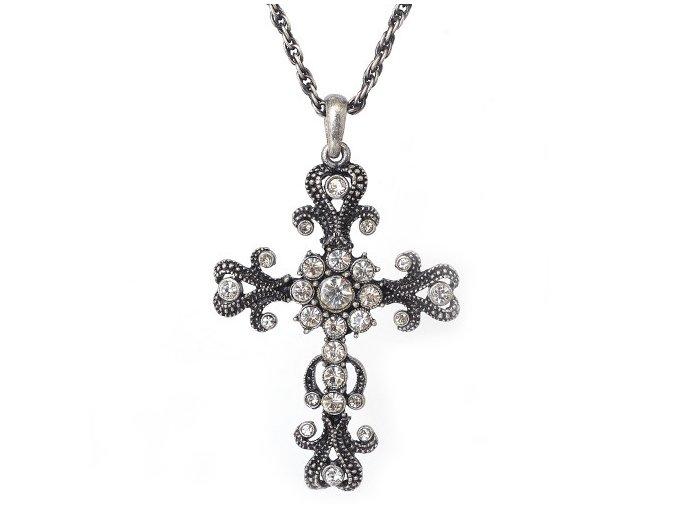 """Kříž """"B"""" - náhrdelník s přívěskem"""