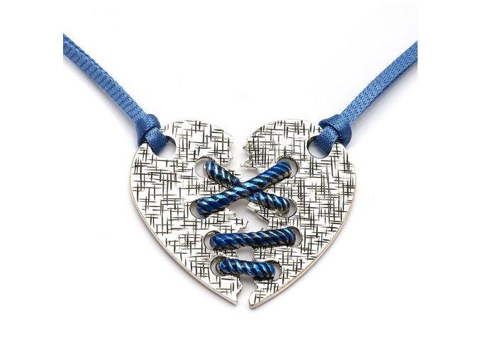 Nikita - náhrdelník srdce - modrá