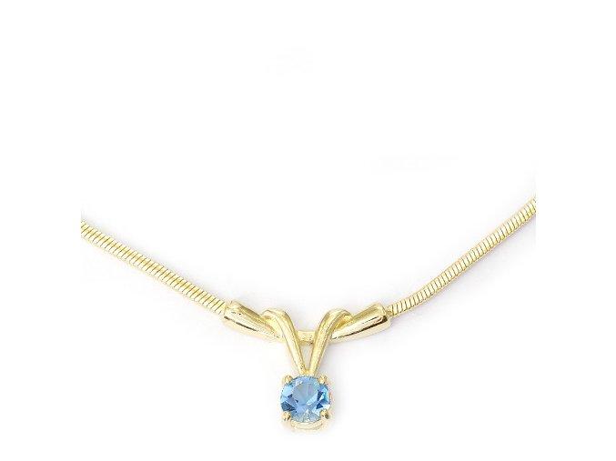 Nikol Blue - pozlacený náhrdelník