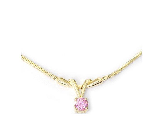 Nikol Pink - pozlacený náhrdelník