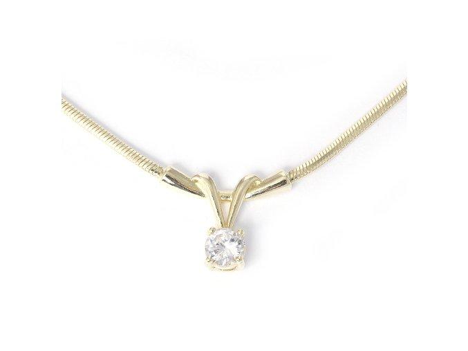 Nikol White - pozlacený náhrdelník