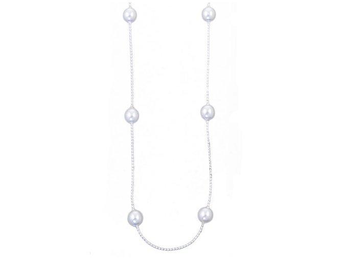 Perla II - náhrdelník bílý