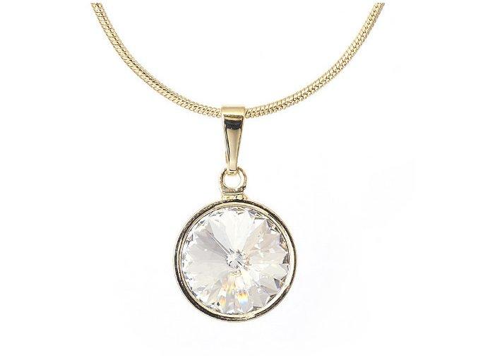 Rivola Gold - Crystal - náhrdelník s přívěskem  «F»