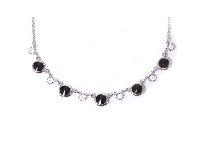 Rivola šanel Black - náhrdelník Swarovski  «F»