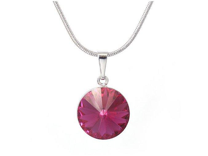 Rivola Vista - Fuchsia - náhrdelník s přívěskem  «F»