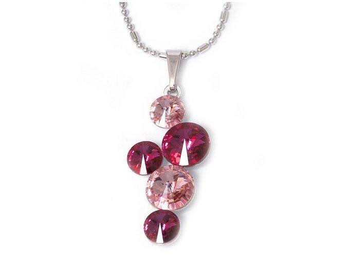 Rivola Wine Rose - náhrdelník Swarovski  «F»