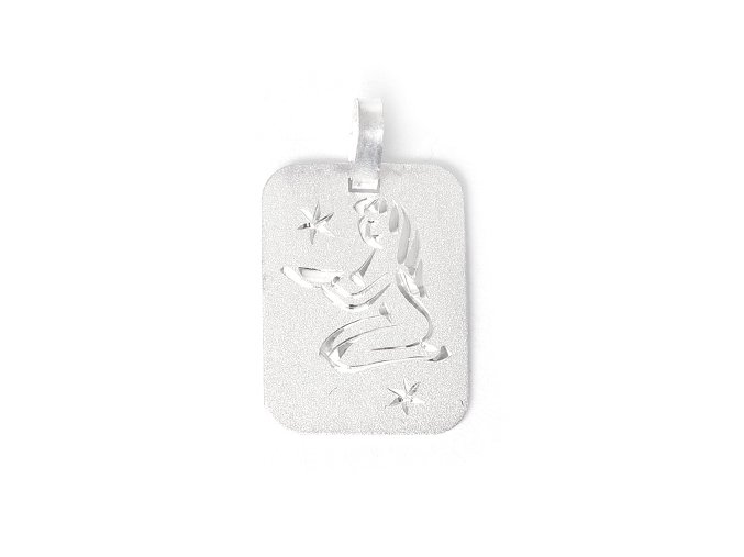 Destička Panna - přívěsek horoskop - stříbro 925/1000