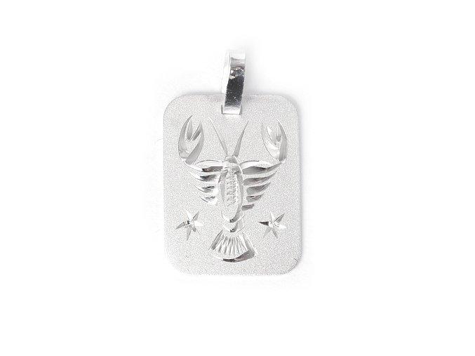 Destička Rak - přívěsek horoskop - stříbro 925/1000