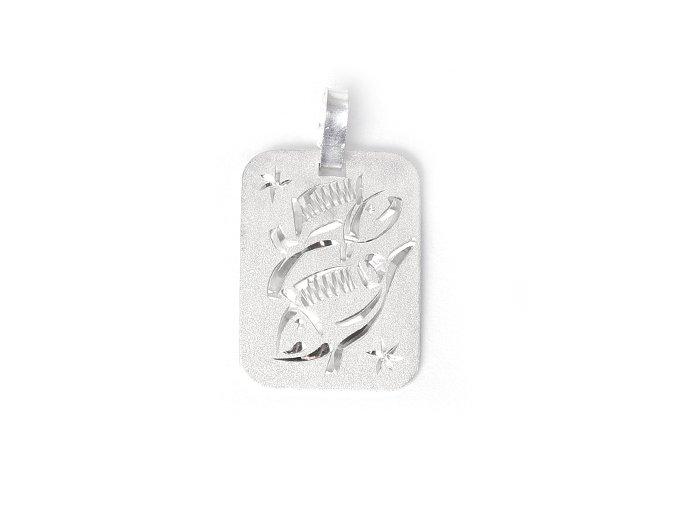 Destička Ryby - přívěsek horoskop - stříbro 925/1000