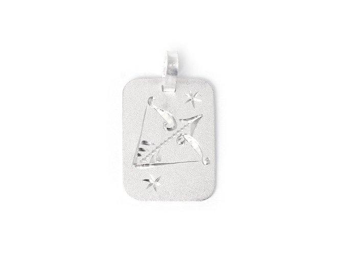 Destička Střelec - přívěsek horoskop - stříbro 925/1000