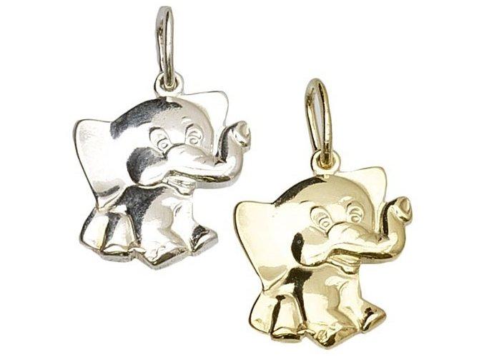 Elephant 1 - přívěsek stříbro 925/1000