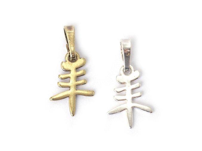 Koza - znamení čínského horoskopu - stříbro 925/1000