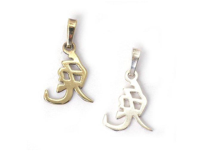 Králík - znamení čínského horoskopu - stříbro 925/1000