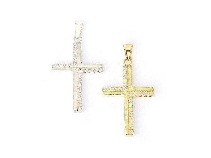 Kříž 4 - přívěsek stříbro 925/1000