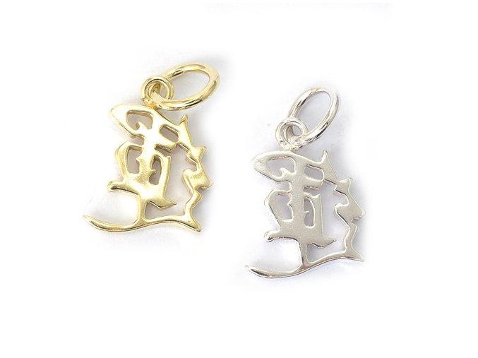 Štěstí - čínský symbol - stříbro 925/1000