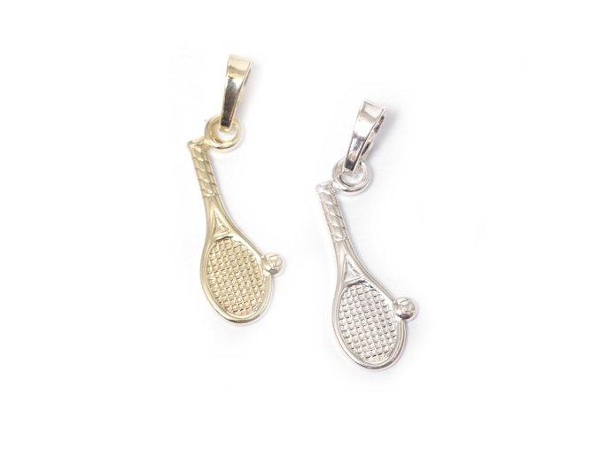 Tenis - přívěsek - stříbro 925/1000