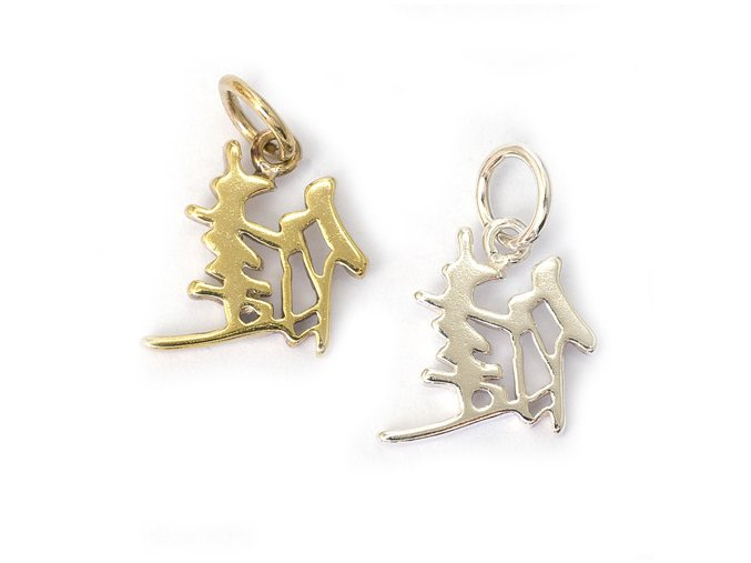 Zdraví - čínský symbol - stříbro 925/1000
