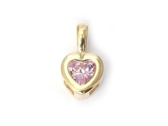 Heart Roze - přívěšek pozlaceno