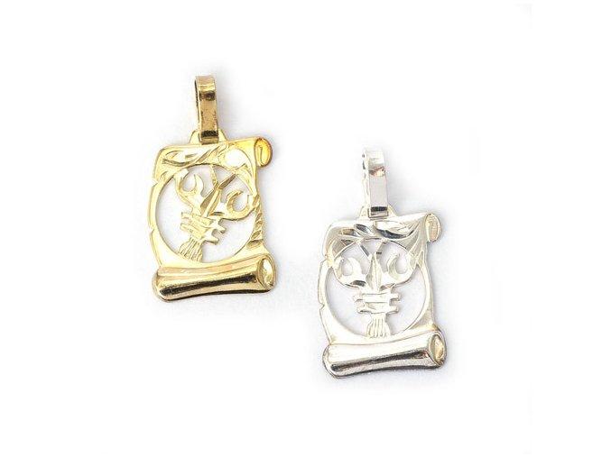 Pergamen Rak - přívěsek horoskop - stříbro 925/1000