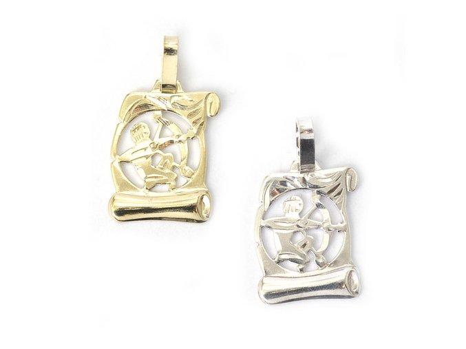 Pergamen Střelec - přívěsek horoskop - stříbro 925/1000