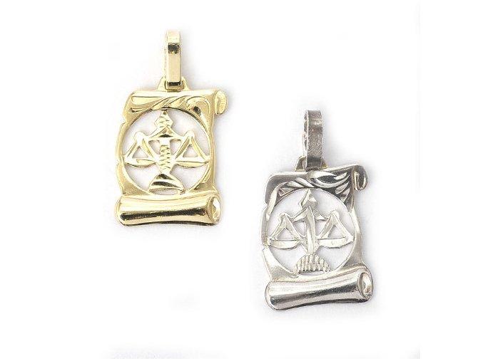 Pergamen Váhy - přívěsek horoskop - stříbro 925/1000