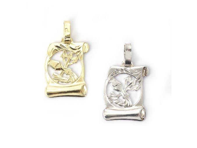 Pergamen Vodnář - přívěsek horoskop - stříbro 925/1000