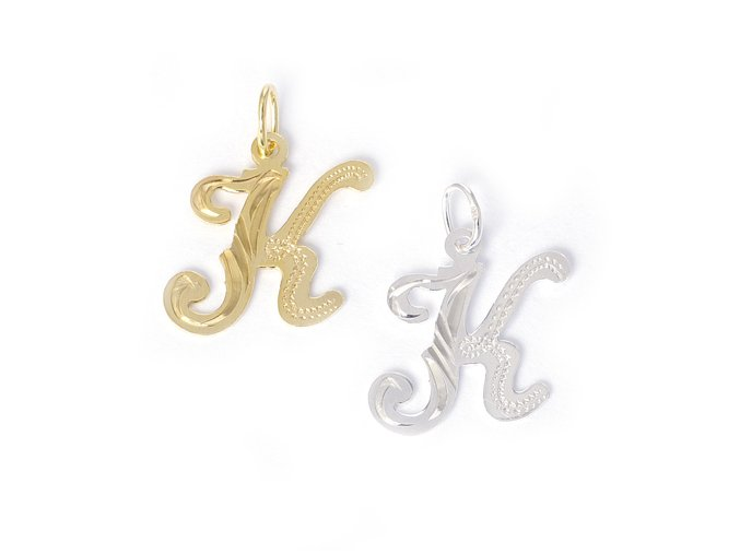Písmeno K - stříbro 925/1000