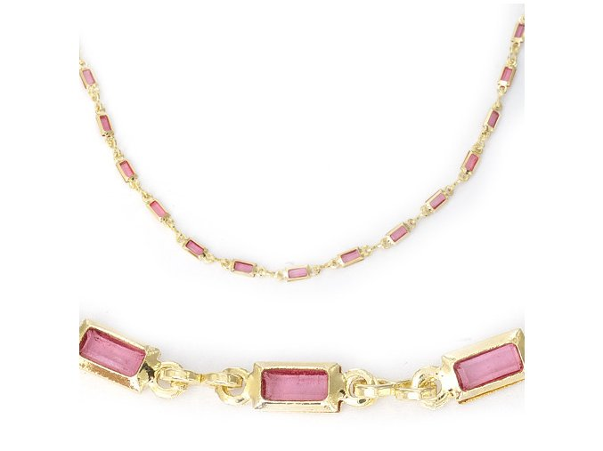 Caruso Pink - náramek pozlacený