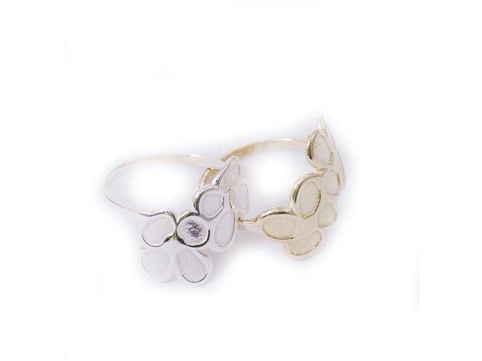 Gerona - prsten stříbro 925 (Materi Pozlacené Stříbro 925 (14K), Velikost 61)
