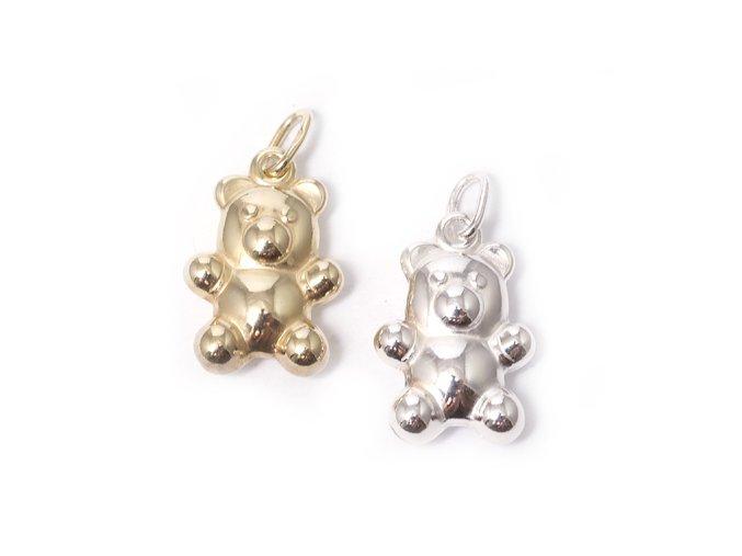Medvěd - přívěsek - stříbro 925/1000