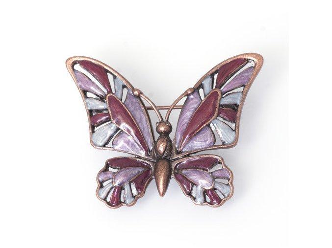 Motýl 1 červený - moderní brož