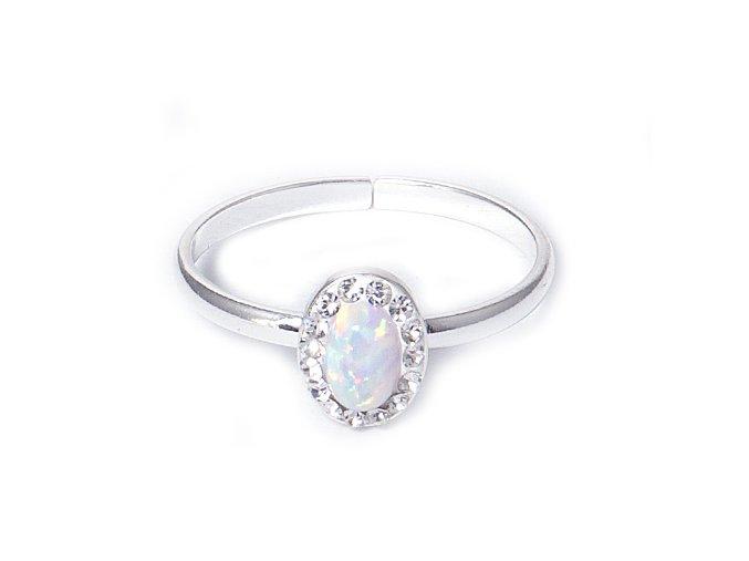 Opal - prsten stříbro 925/1000