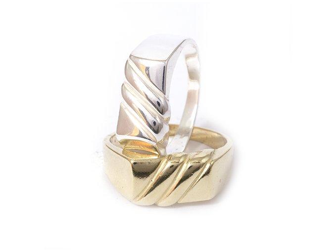 Zoro - prsten stříbro 925 (Materi Pozlacené Stříbro 925 (14K), Velikost 65)