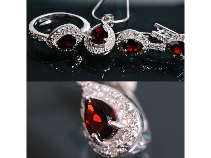 Giada 2 - granátový šperk
