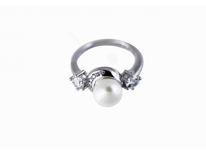 Felisha s pravou perlou 04 - prsten  stříbro 925/1000'