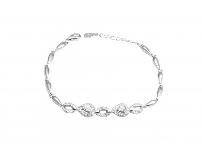 Rosa  - stříbrný náramek 925/1000'
