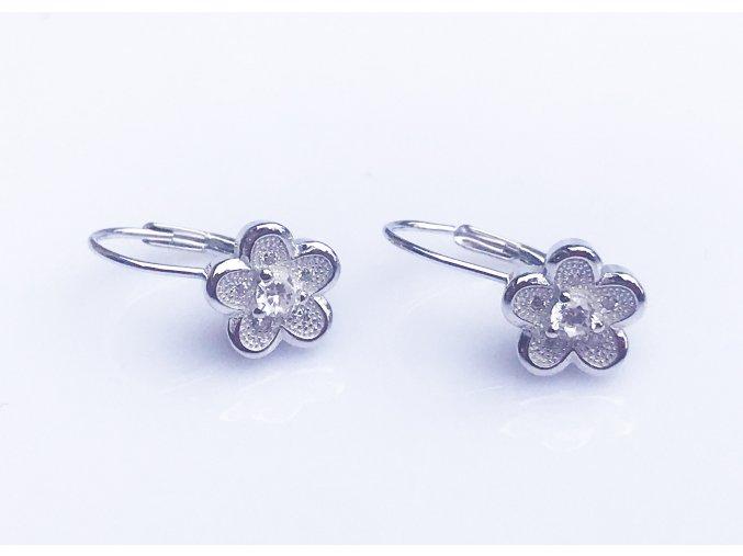 Stříbrné náušnice květinky na klapku K03