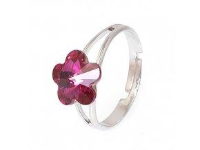 Flora - Fuchsia - prsten  «F»